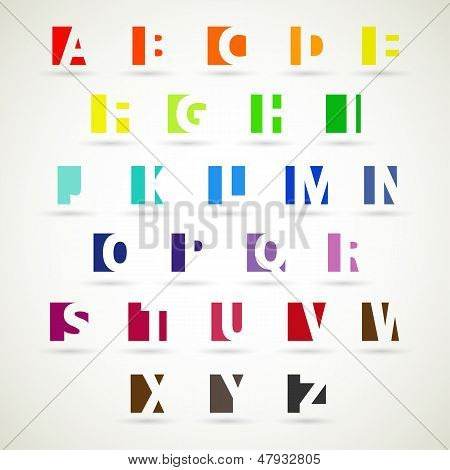 Upper case alphabet set