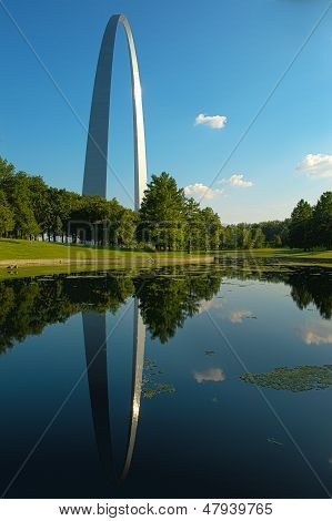 The Gateway Arch and reflection