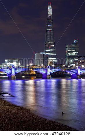 The Shard And Southwark Bridge In London