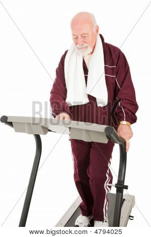 Senior Man On Treadmill