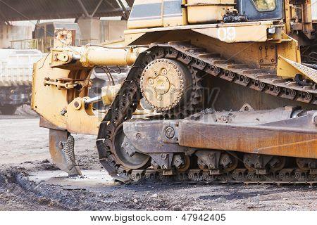 Bulldozer Working