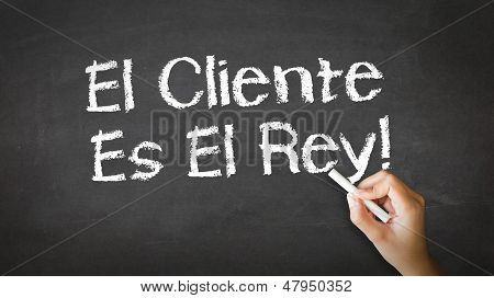 Customer Is King (in Spanish)