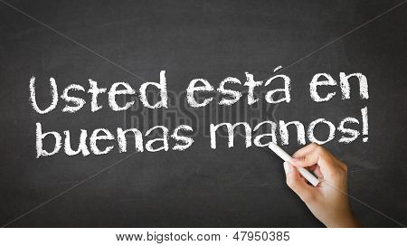 You Are In Good Hands (in Spanish)