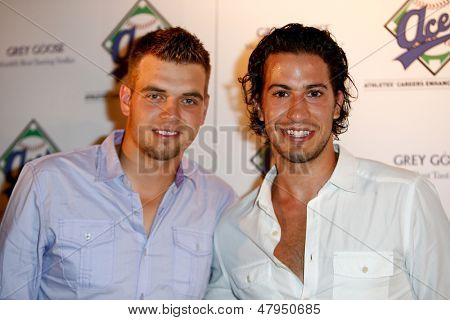 NEW YORK-JULY 14: Brad Valliquette (left) and New York Rangers player Michael del Zotto attend the Aces, Inc. All Star party at Marquee on July 14, 2013 in New York City.