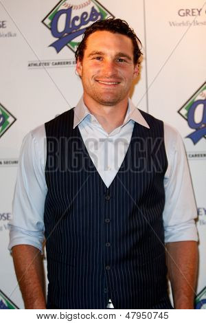 NEW YORK-JULY 14: New York Mets player Daniel Murphy attends the Aces, Inc. All Star party at Marquee on July 14, 2013 in New York City.