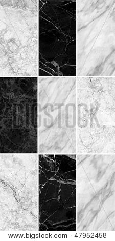 White-black marble texture background. (high.res)
