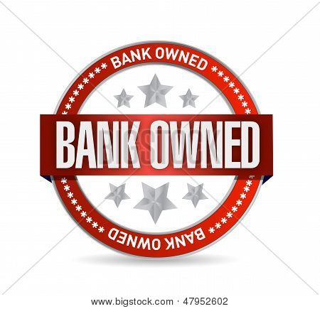 Bank Owned Seal Stamp Illustration Design