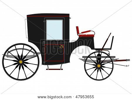 Black Retro Carriage.