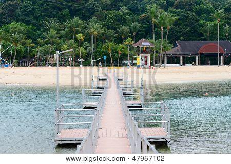 Peer To Tropical Beach