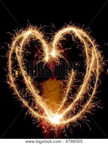 Heart-shape Light Trails