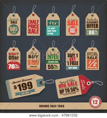 Unique Sale Tags