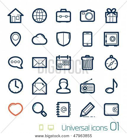 Universal icons set Perfect lines 01