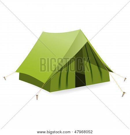 Tent. Vector Illustration