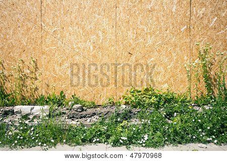 Empty Chipboard Fence