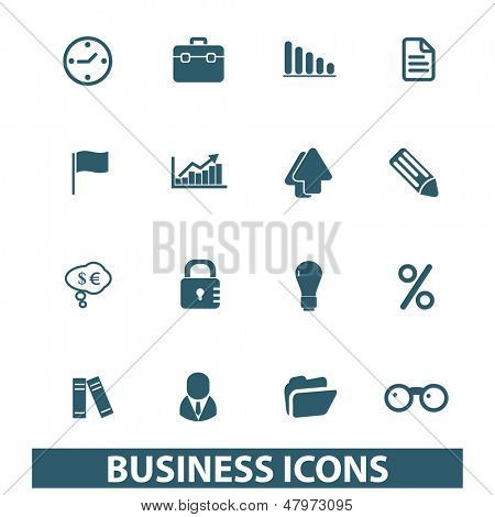 business, management, presentation, infographics icons, signs set, vector