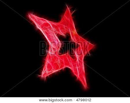 Fractal Red Star