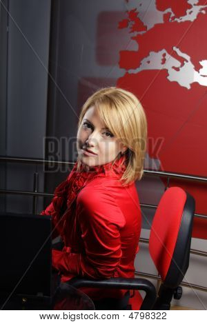 Profile Of Attractive Television Presenter