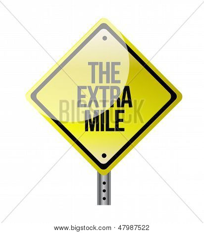 The Extra Mile Road Sign