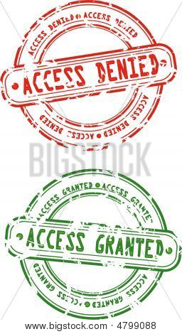 Rubber Stamps - Access Granted And Denied