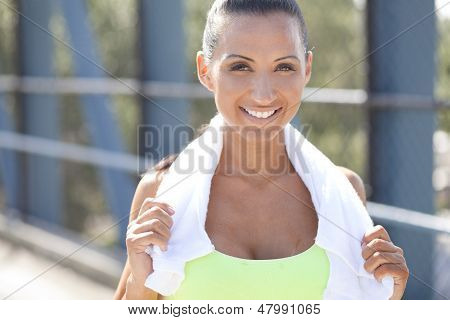 Athlete With Friendly Smile
