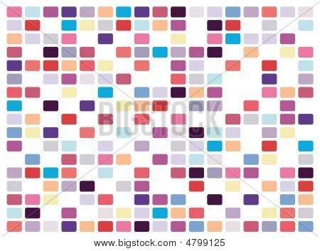 Retro Mosaic On White Background