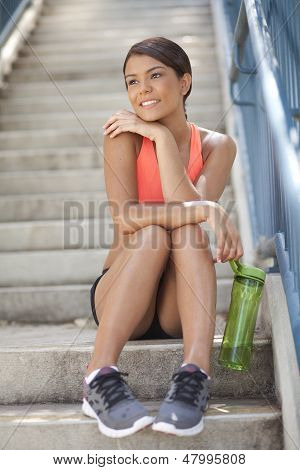 Young Athletic Woman Smilling
