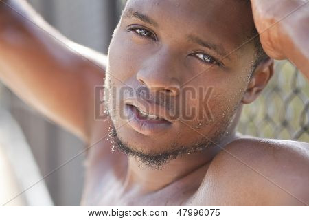Attractive Young Man Looking At Camera