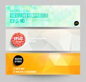 stock photo of geometric shape  - Banners set for business modern background design - JPG