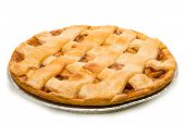A delicious Apple Pie on a white background