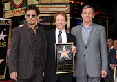 LOS ANGELES - JUN 23:  Johnny Depp, Jerry Bruckheimer & Robert Iger arrives to the Walk of Fame Hono