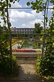 stock photo of kensington  - A view of the Sunken Garden in Kensington Gardens London - JPG