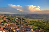 foto of hamlet  - View of small typical italian town of Diano D - JPG