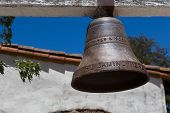 stock photo of old spanish trail  - Throughout California the California Mission Trail is adorned with Historic Bells Noting the Path - JPG