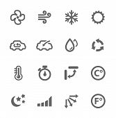 picture of thermometer  - Simple set of air conditioning related vector icons for your design - JPG