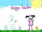 Little Girl & The Easter Bunny