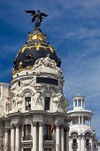 Madrid (Spain) / Famous Statue on the top / Gran Via