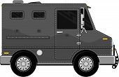 stock photo of armored car  - armored truck vehicle cartoon isolated on white background - JPG