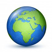 stock photo of globalization  - World Globe Map  - JPG