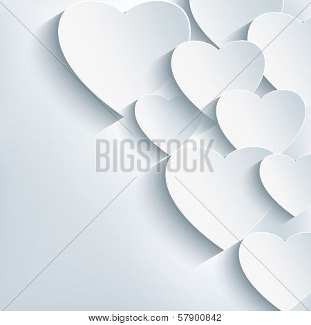 Stylish Creative Abstract Background, 3D Heart
