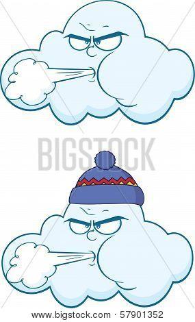 Cloud Cartoon Mascot Characters  Collection Set