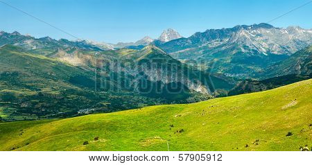 Pic Du Midi Panorama In The French Pyrenees