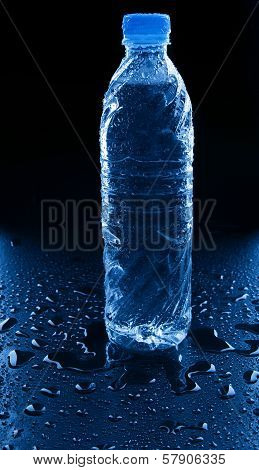 Freshness Of Drinking Water On Wet Floor Use For Healthy Life Food And Drink Refreshing Beverage And