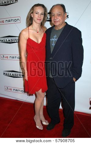 Cheech Marin and wife Patti  at the Grand Reopening of The Hollywood Palladium. Hollywood Palladium, Hollywood, CA. 10-15-08