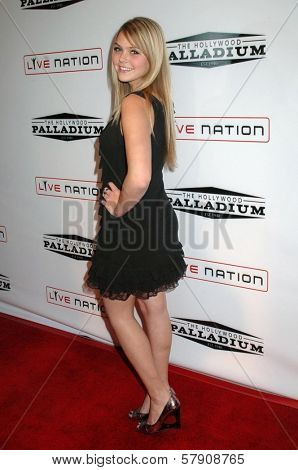 Aimee Teegarden  at the Grand Reopening of The Hollywood Palladium. Hollywood Palladium, Hollywood, CA. 10-15-08