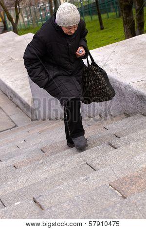 Woman, Potemkin Steps In Odessa