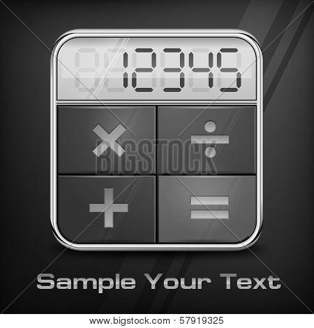 Pocket Calculator On Black