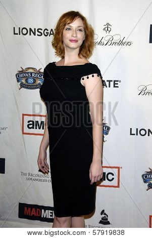 Christina Hendricks  at the live revue A Night On The Town With 'Mad Men'. El Rey Theater, Los Angeles, CA. 10-21-08