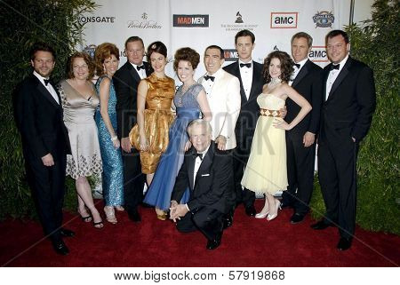 Cast and Crew of 'Mad Men'  at the live revue A Night On The Town With 'Mad Men'. El Rey Theater, Los Angeles, CA. 10-21-08