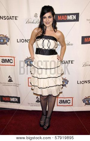 Rima Yazbeck  at the live revue A Night On The Town With 'Mad Men'. El Rey Theater, Los Angeles, CA. 10-21-08
