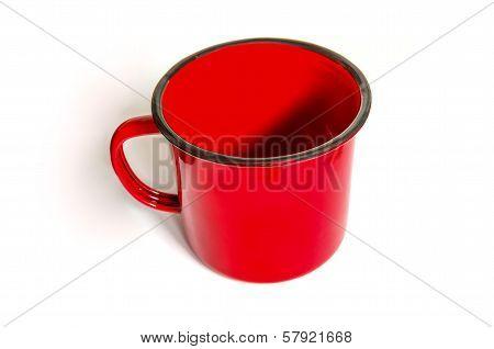 Mug Painted In Red